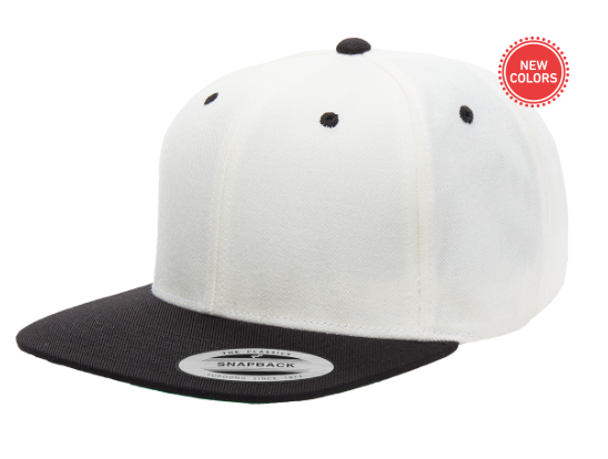 Two-Tone White/Black 6 Panel SnapBack