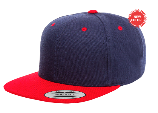 Two-Tone Navy/Red 6 Panel SnapBack