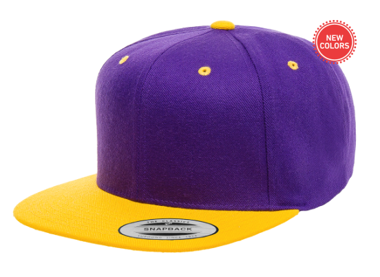 Two-Tone Purple/Yellow 6 Panel SnapBack