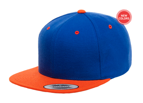 Two-Tone Orange/Blue 6 Panel SnapBack