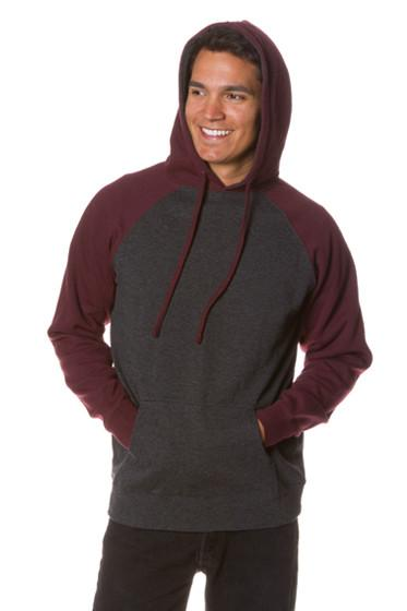 Two Tone Mid-Weight Pull Over Hoodie (2 Colors)