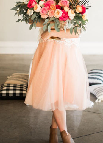Tamara Too Much Tulle Skirt in Blush