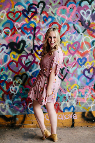 Pretty in Pink Tunic Dress in Rose