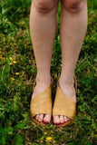 Sideshow Sandal Flats in Muted Mustard