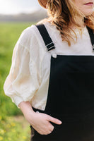 Olivia Denim Overalls in Black