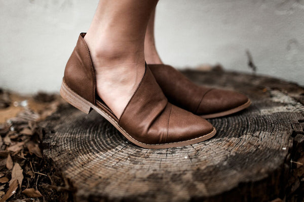 Katherine Cut-Out Booties in Natural