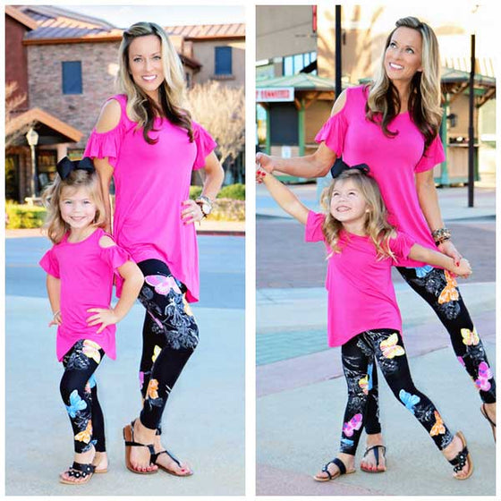 Iora Butterfly Mommy & Kid Yoga Pants