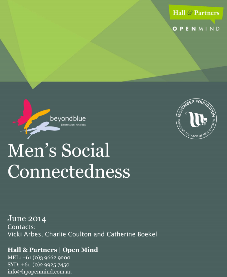 Men's Social Connectedness
