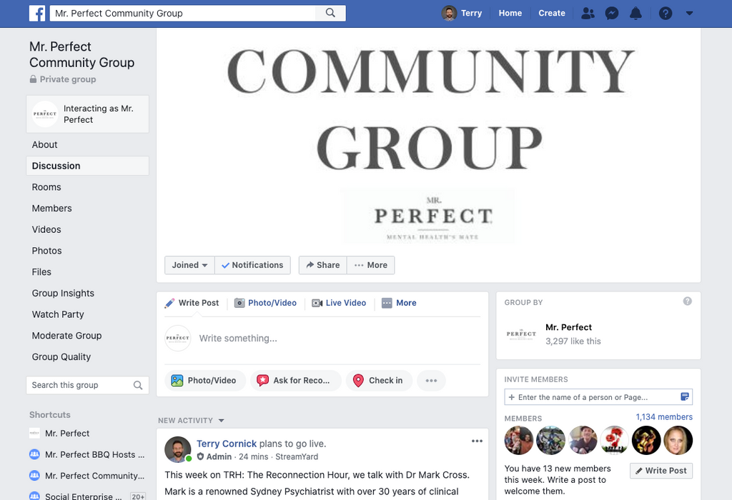 Mr. Perfect Facebook Community Group FAQs
