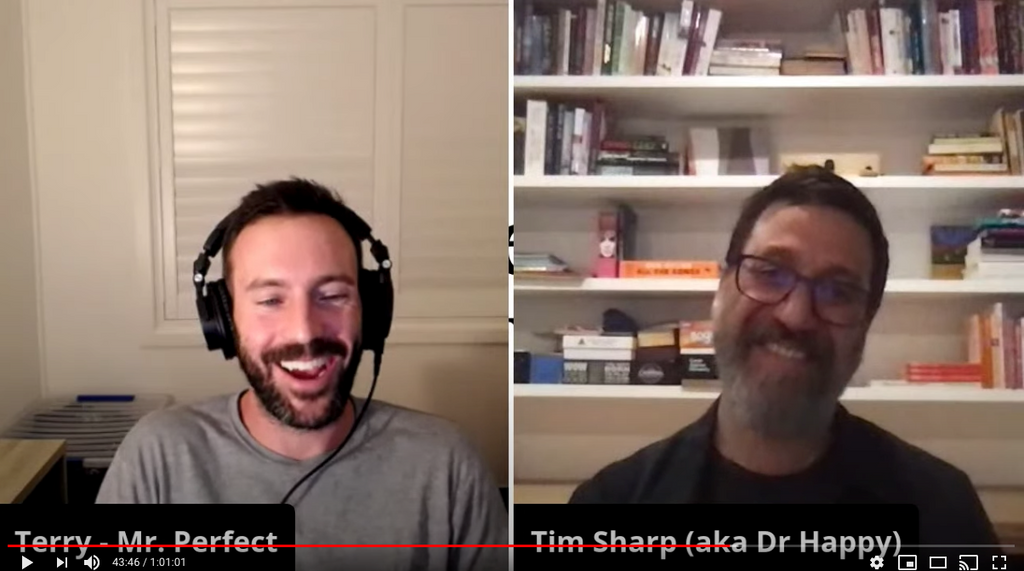 "TRH: The Reconnection Hour with Dr Tim Sharp aka ""Dr Happy"""