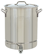 Bayou Classic 8 Gal. Stainless Steel Stockpot with Spigot - Brew My Beers