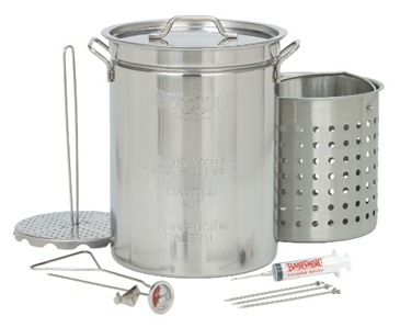 Bayou Classic 32 Qt. Stainless Steel Turkey Fryer with Basket - Brew My Beers