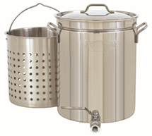 Bayou Classic 10 Gal Stainless Stockpot with Spigot & Basket - Brew My Beers