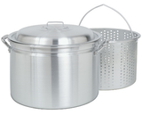 Bayou Classic 20 Qt to 60 Qt Aluminum Stockpot with Basket - Brew My Beers