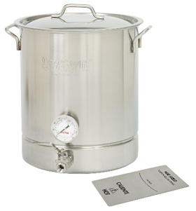 Bayou Classic 10 Gal.  Stainless Steel Standard Brew Kettle 4-Pc Set - Brew My Beers