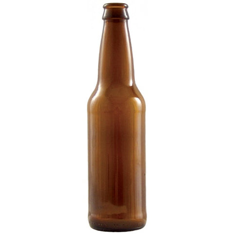 Beer Bottles - 12 Oz. Amber Long Neck - Case of 24- Pallet of 60 Cases - Brew My Beers
