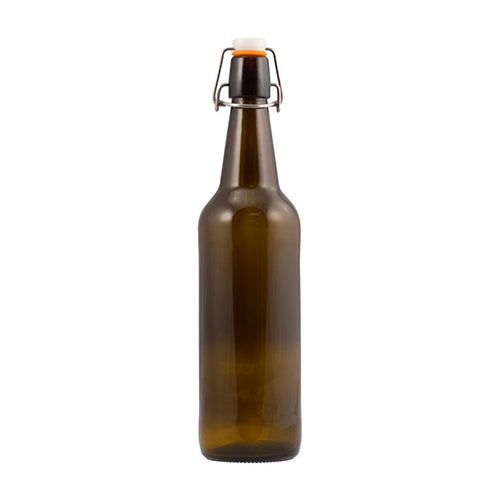 Beer Bottles - 500 mL Amber Flip-Tops - Case of 12 - Brew My Beers