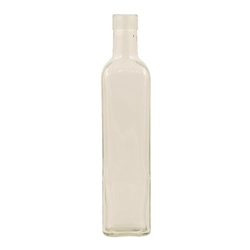 500 mL Clear Square Sided Glass Bottles- Case of 12 - Brew My Beers
