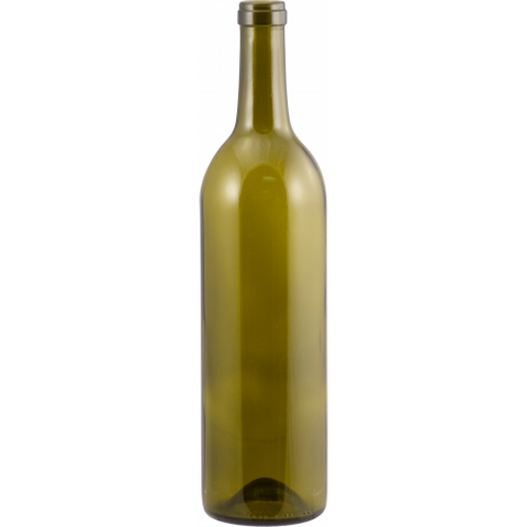 750 mL Antique Green Bordeaux Wine Bottles - Case of 12 - Brew My Beers