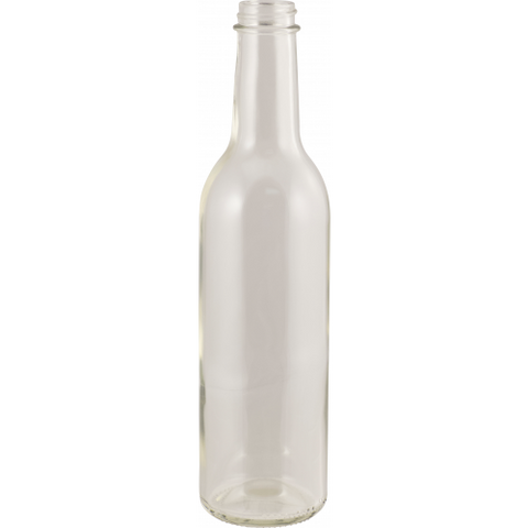 375 mL Clear Wine Bottles - Screw Top - Case of 12 - Brew My Beers