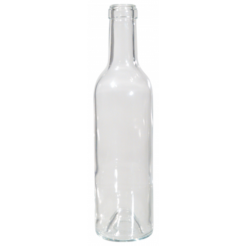 375 mL Clear Bordeaux Wine Bottles - Case of 12 - Brew My Beers