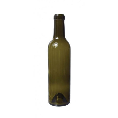 Wine Bottles (Antique Green), 375mL (Case of 12) - Pallet of 88 Cases - Brew My Beers