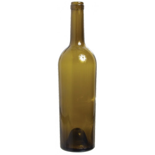 750 mL Antique Green Tapered Bordeaux Wine Bottles - Case of 12 - Brew My Beers