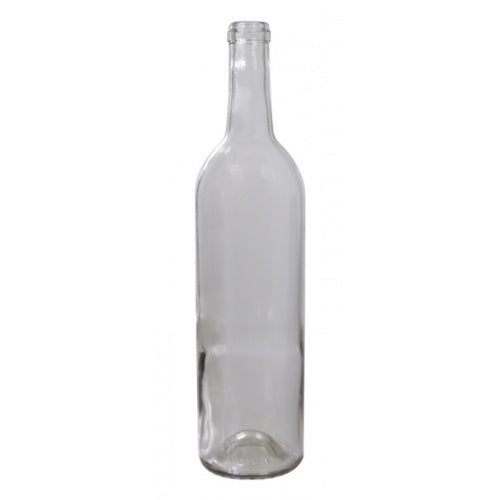 750 mL Clear Bordeaux Wine Bottles - Case of 12 - Brew My Beers