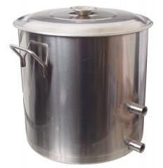 Stainless Brew Kettle w/ Couplers (8.5 Gal) - Brew My Beers