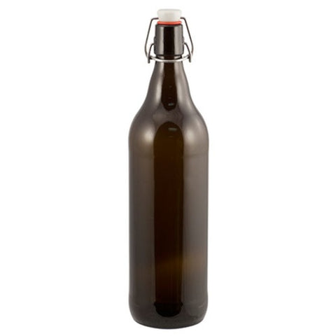 Beer Bottles - 1 L Amber Flip-Top Growler - Case of 6 - Brew My Beers