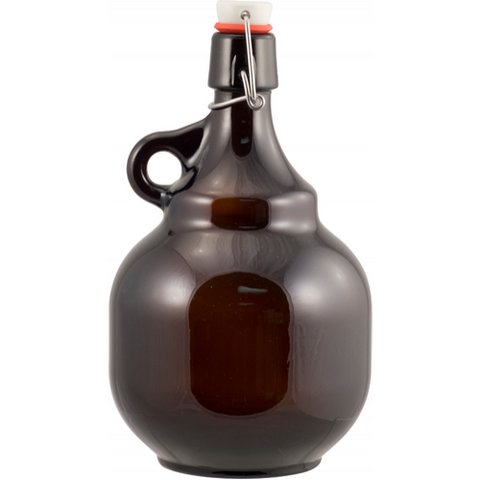 Beer Bottles - 2 L Amber Flip-Top Palla Growler - Case of 6 - Brew My Beers