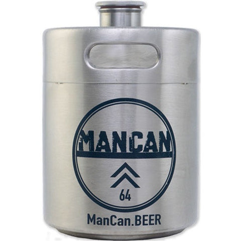 ManCan Stainless Steel Mini-Keg Growler - Brew My Beers