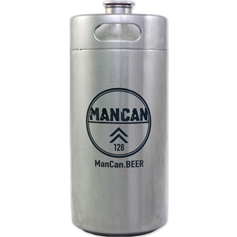 ManCan Stainless Steel Mini-Keg Growler 128 oz. - Brew My Beers