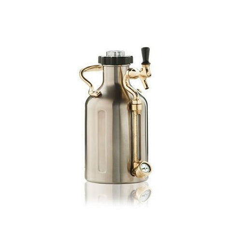 GrowlerWerks Ukeg Pressurized Stainless Steel Growler - 64 oz. - Brew My Beers