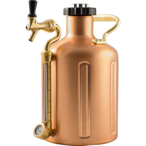 GrowlerWerks UKeg 128 Pressurized Copper Growler - 128 oz. - Brew My Beers