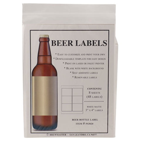 Bottle Labels - Beer - Pack of 48 - Brew My Beers