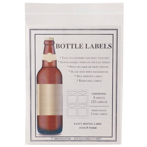 Bottle Labels - 2-Part - Pack of 32 - Brew My Beers
