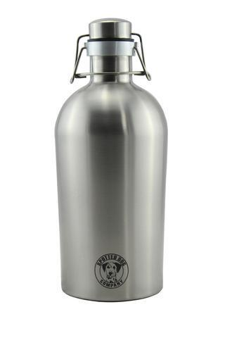 Spotted Dog Stainless Steel 64 oz. Insulated Double Wall Growler - Brew My Beers
