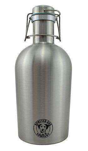 Spotted Dog Stainless Steel 64-oz Stainless Steel Craft Beer Growler - Brew My Beers