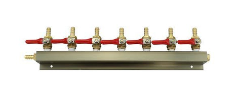 "The Weekend Brewer 7-Way 5/16"" Barbed CO2 Manifold Distributor - Brew My Beers"