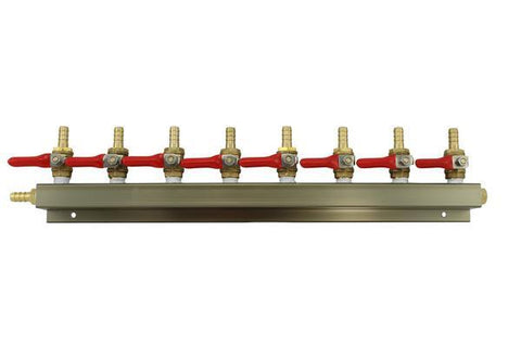 "The Weekend Brewer 8-Way 5/16"" Barbed CO2 Manifold Distributor - Brew My Beers"