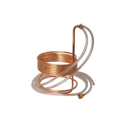 "Fermentap Water Efficient Immersion Wort Chiller (25' x 3/8"" with Tubing) - Brew My Beers"