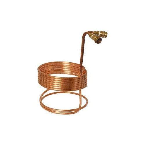 "Fermentap Water Efficient Immersion Wort Chiller (25' x 3/8"" with Brass Fittings) - Brew My Beers"