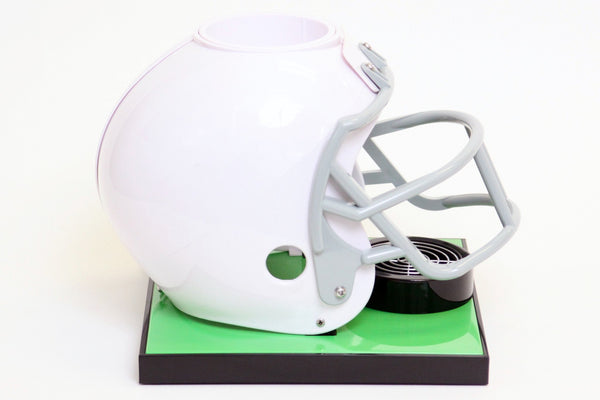 Beer Tubes White Football Helmet Base Tabletop Beverage Dispenser - Brew My Beers