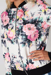 Autumn Winter Flower Print Sukajan Bomber Jacket