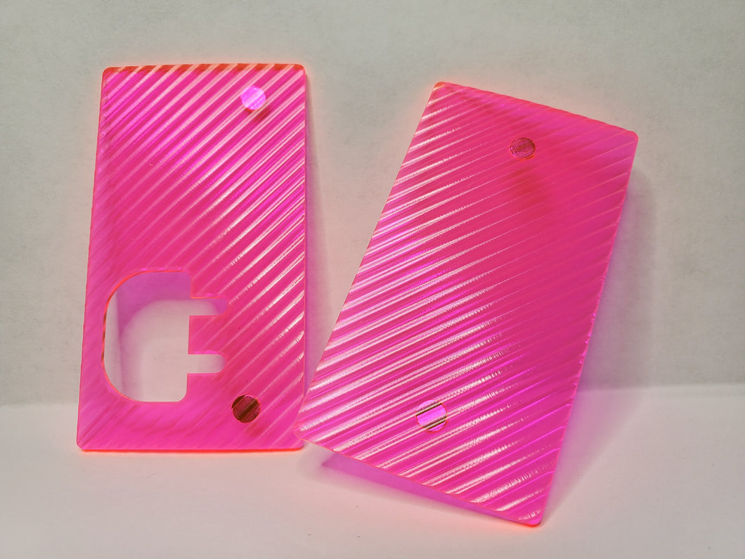 Neon Pink Grippy Plug Panels (Panels only, Plug device not included)