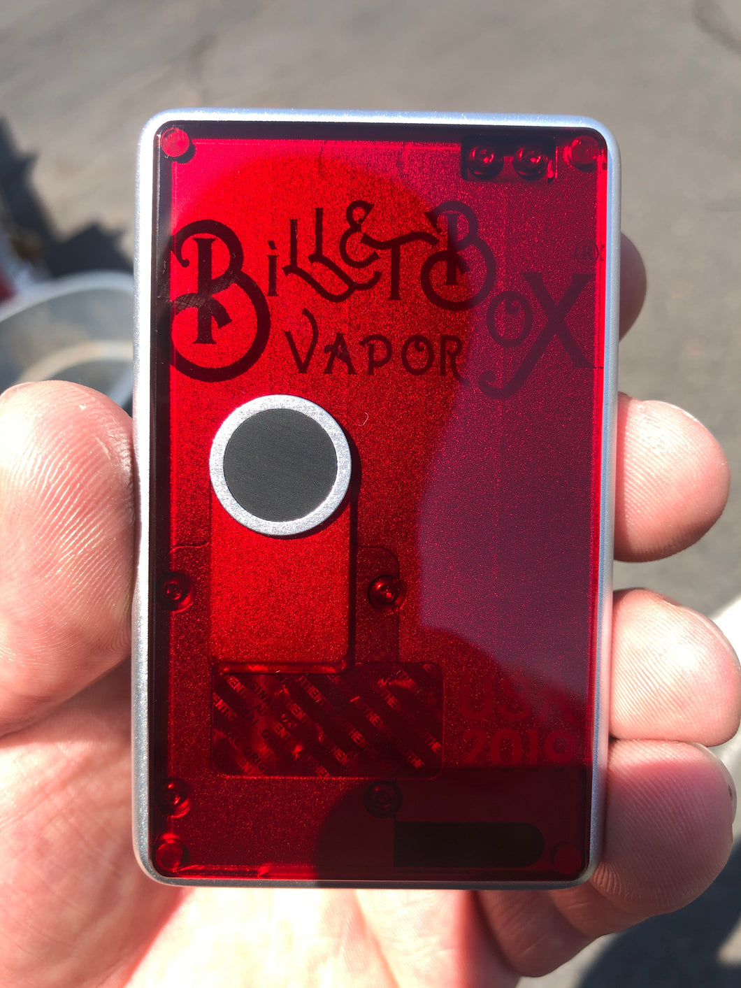 Blood RedFLAT acrylic billet box rev4 doors (mod not included)
