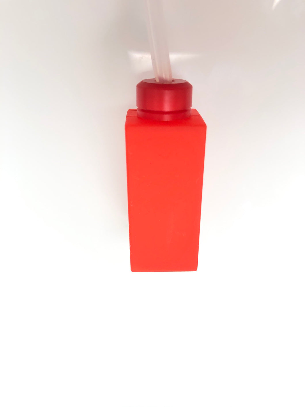 Red Alert Square'd bottle with red cap