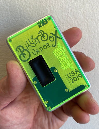 Neon Green Mission Switch FLAT acrylic billet box rev4 doors (mod and inners not included)