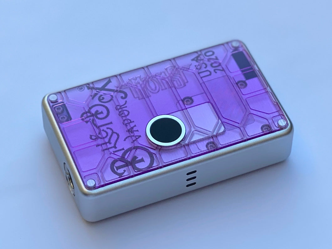 Lavender Curved Shell acrylic billet box rev4 doors (mod not included)